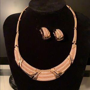 Rhinestone Statement Jewelry Set